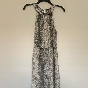 Leopard print ankle length dress